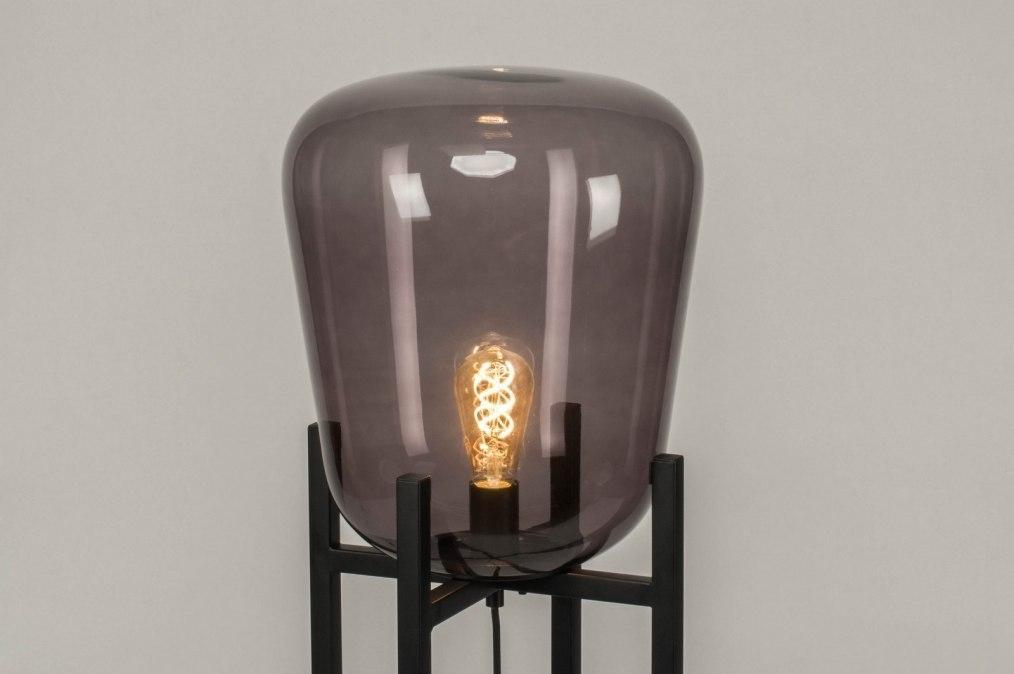Vloerlamp 11988: modern, retro, zwart, mat #0