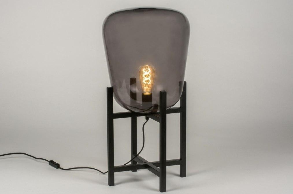 Tafellamp 11989: modern, retro, glas, metaal #0