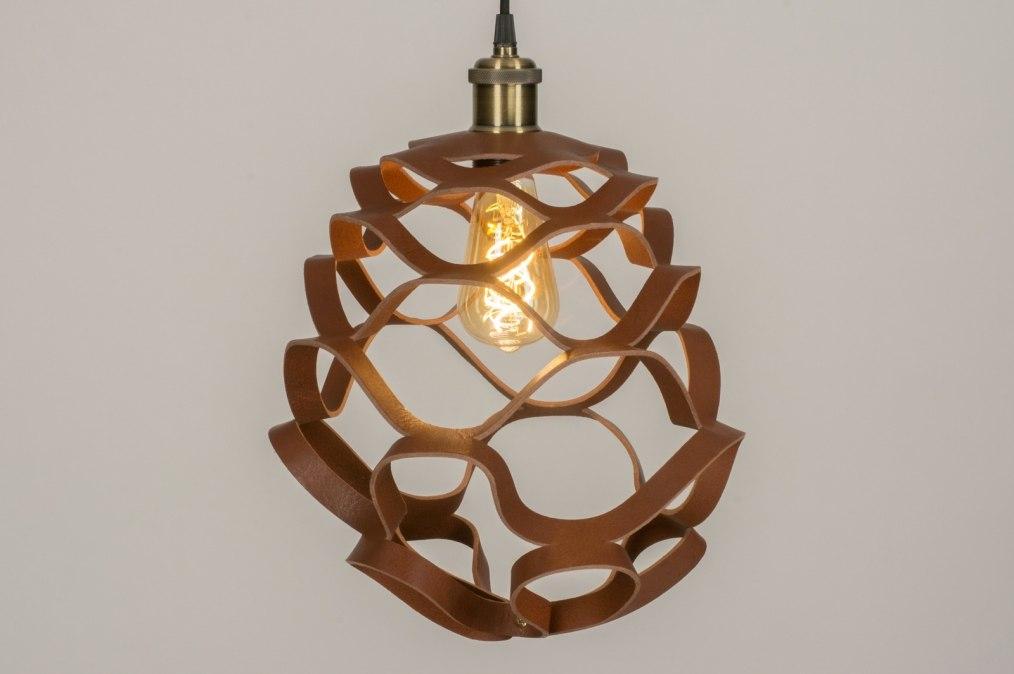 pendelleuchte 11996 modern coole lampen grob braun bronze rostbraun. Black Bedroom Furniture Sets. Home Design Ideas