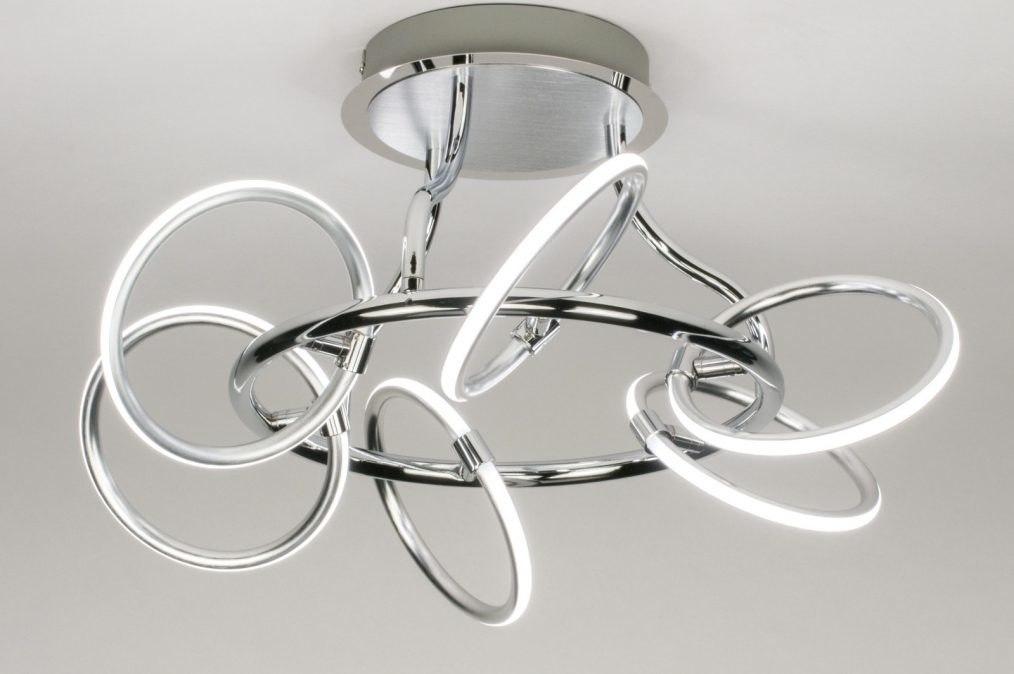 Plafondlamp 12002: sale, design, modern, geschuurd aluminium #0