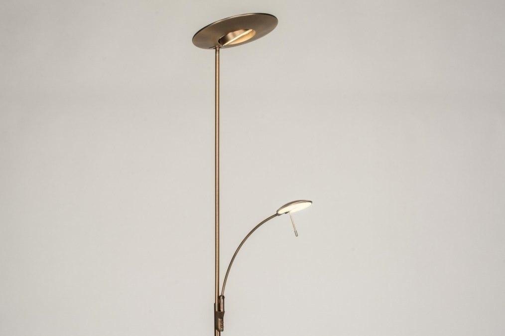 Vloerlamp 12038: modern, eigentijds klassiek, brons roest bruin, brons #0
