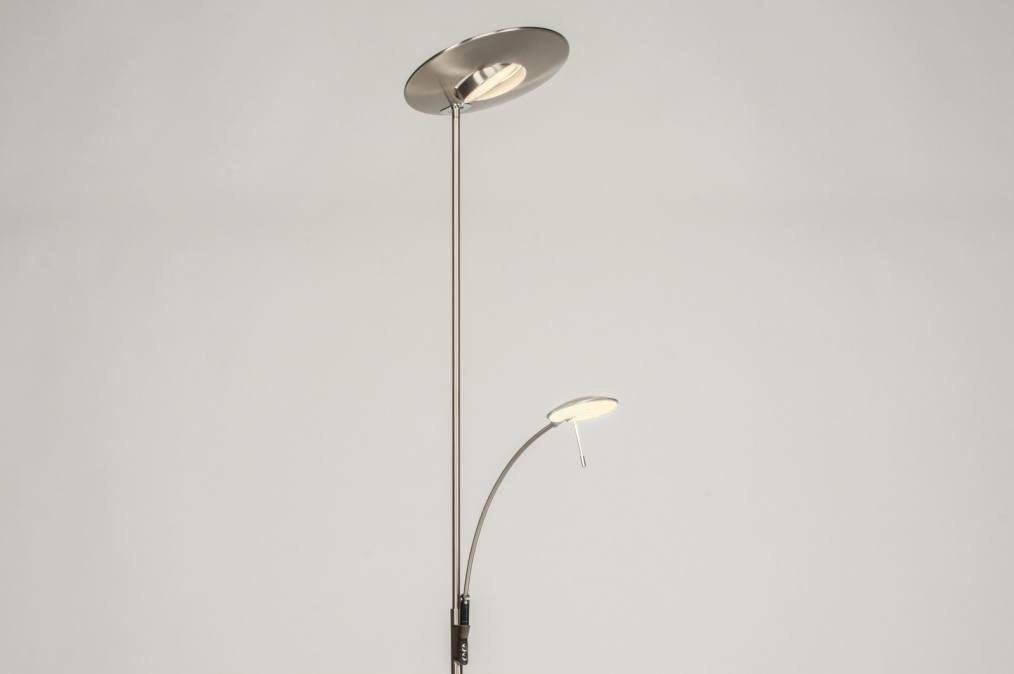 Vloerlamp 12039: modern, eigentijds klassiek, staalgrijs, metaal #0