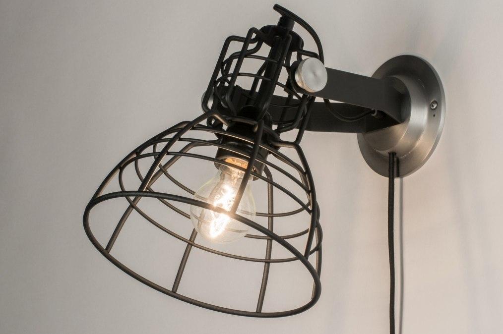 Wandlamp 12040: industrie, look, modern, stoer #0