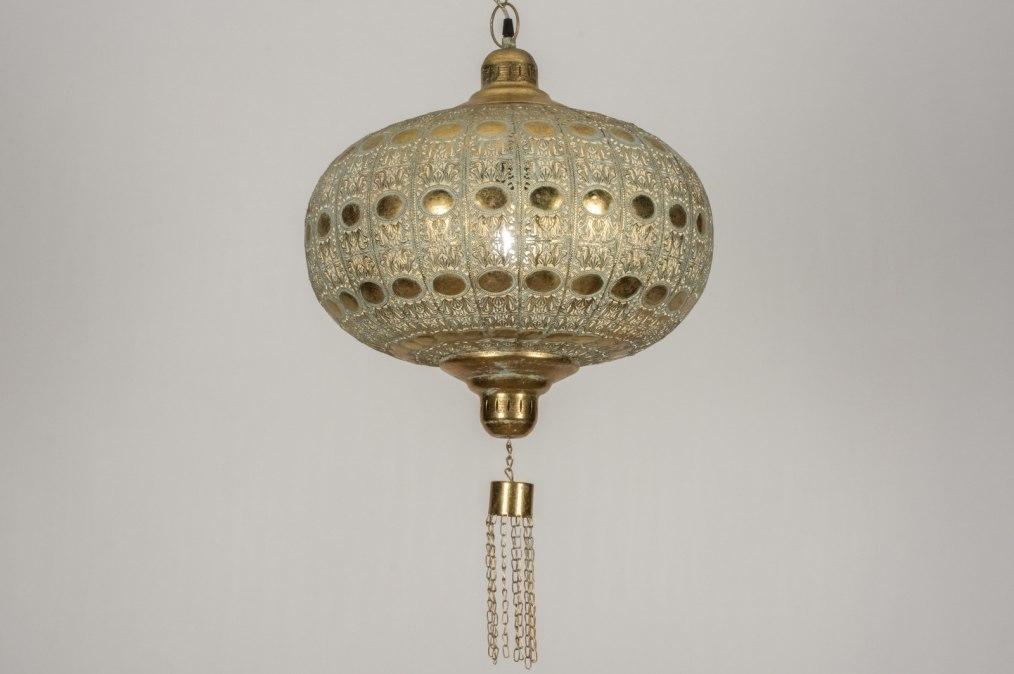 Hanglamp 12045: modern, eigentijds klassiek, goud, metaal #0