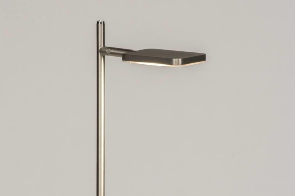 Vloerlamp 12052: modern, design, staalgrijs, metaal #0