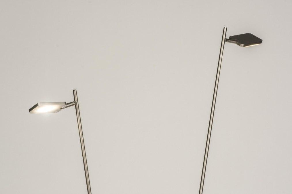 Staande lamp 12054: modern design staalgrijs metaal