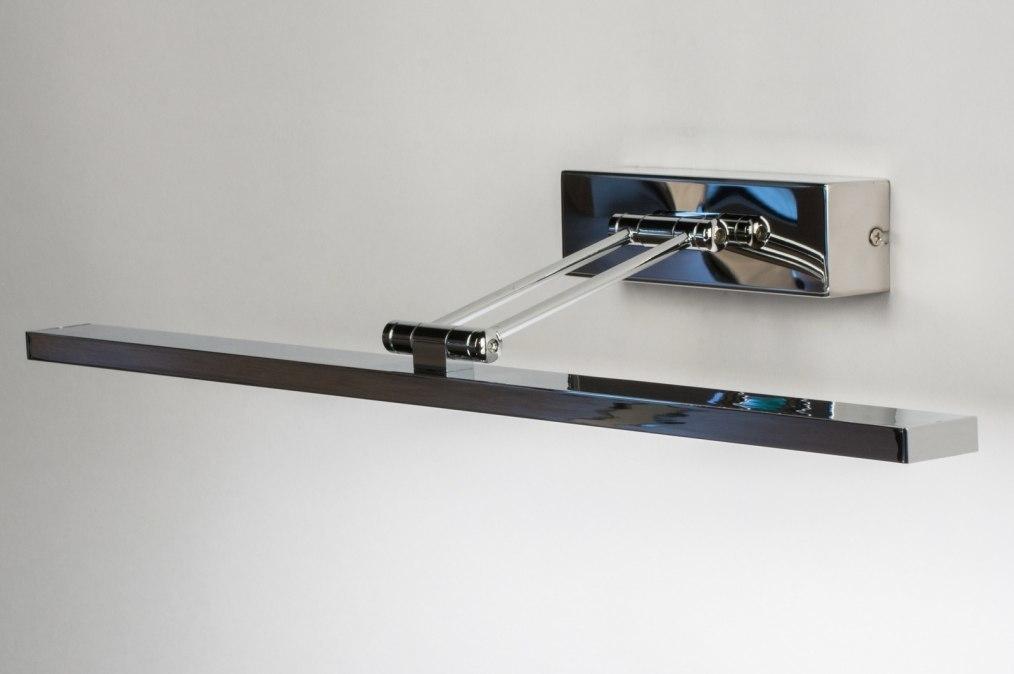 Wandlamp 12103: modern, chroom, metaal, langwerpig #0