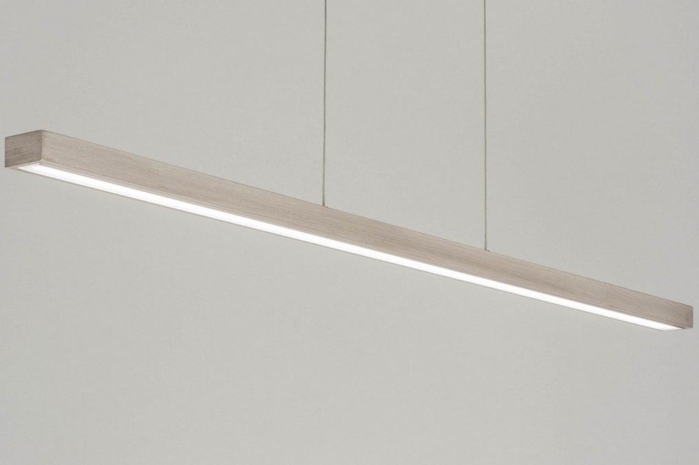 Hanglamp 12132: modern, design, grijs, hout #0