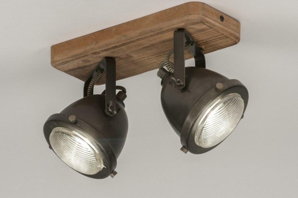 Plafondlamp 12136: industrie, look, landelijk, rustiek #0