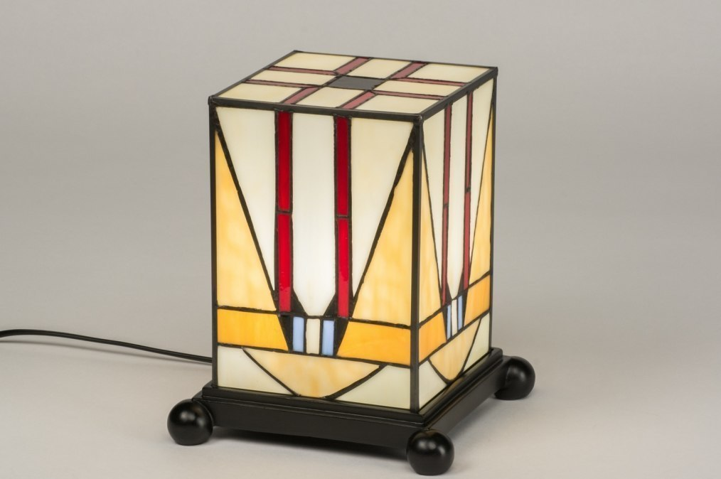 Tafellamp 12148: klassiek, eigentijds klassiek, art deco, meerkleurig #0