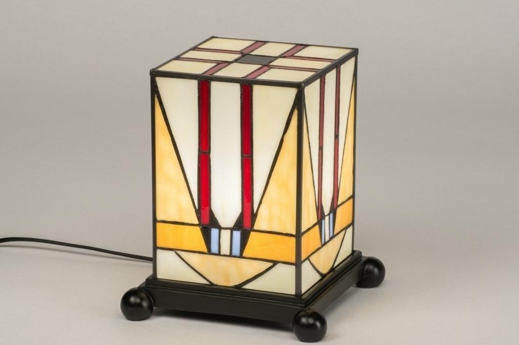 Tafellamp 12148: klassiek, eigentijds klassiek, art deco, glas #0