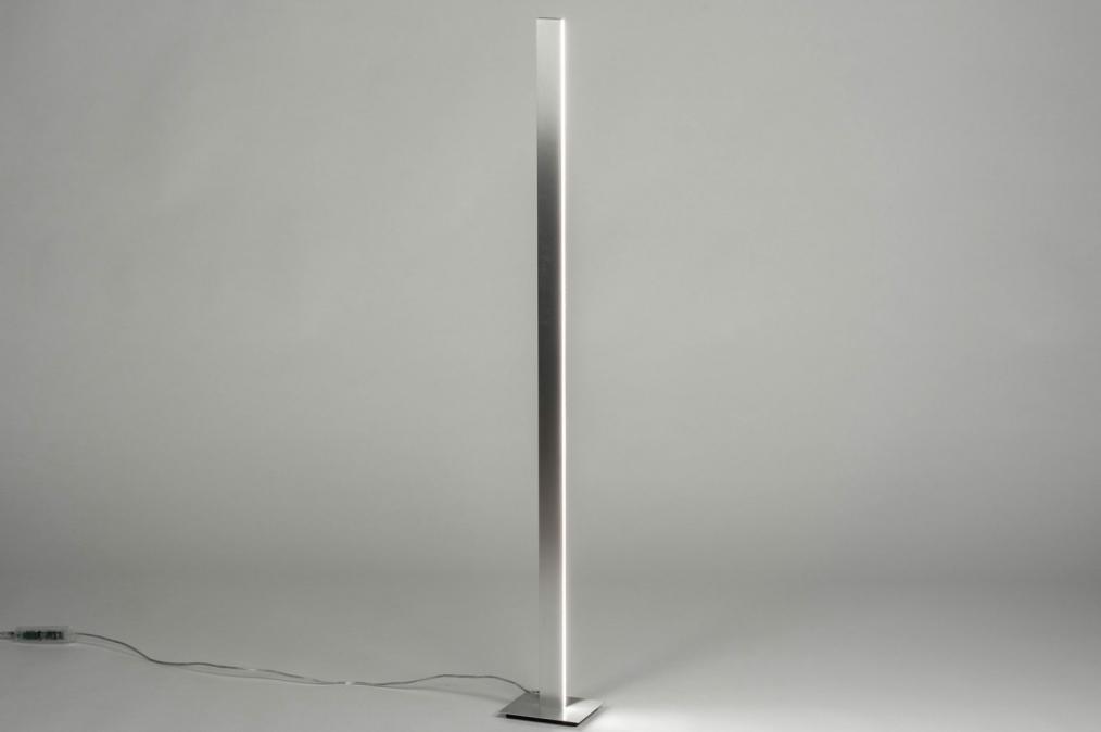 Vloerlamp 12408: design, modern, aluminium, metaal #0