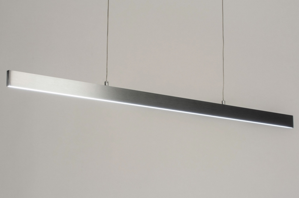 Hanglamp 12410: design, modern, aluminium, geschuurd aluminium #0