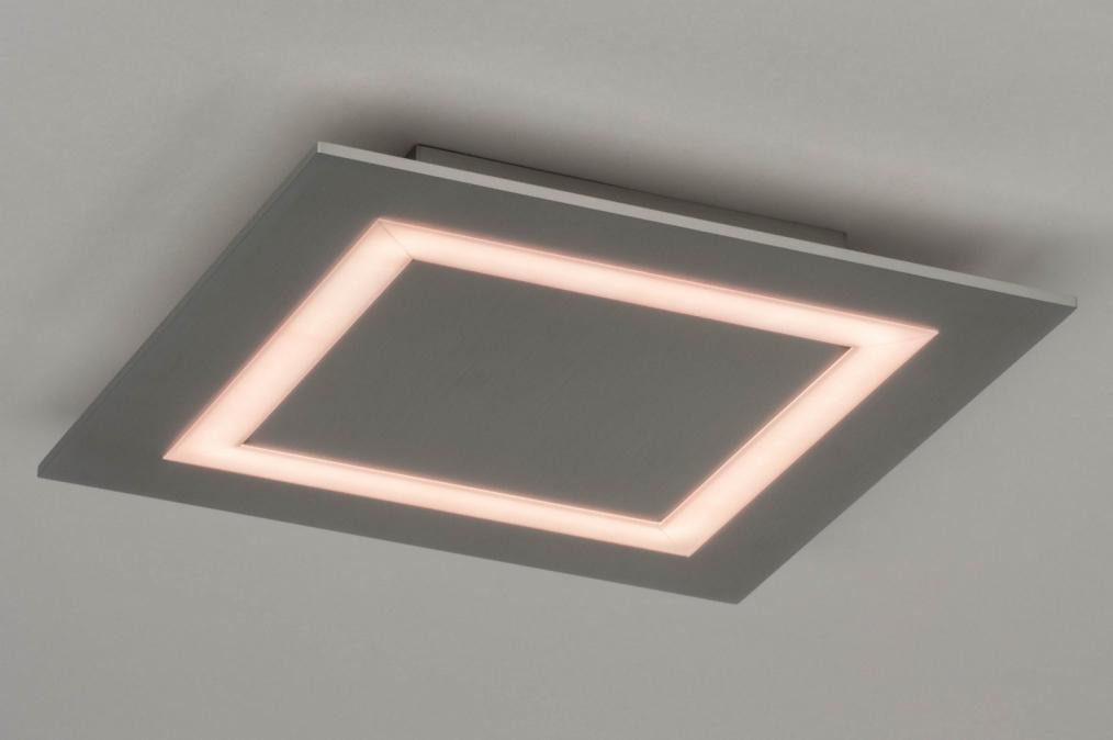 Plafondlamp 12414: modern, aluminium, metaal, aluminium #0