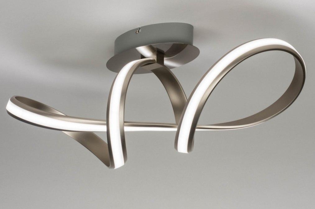 Plafondlamp 12421: design, modern, staal rvs, kunststof #0