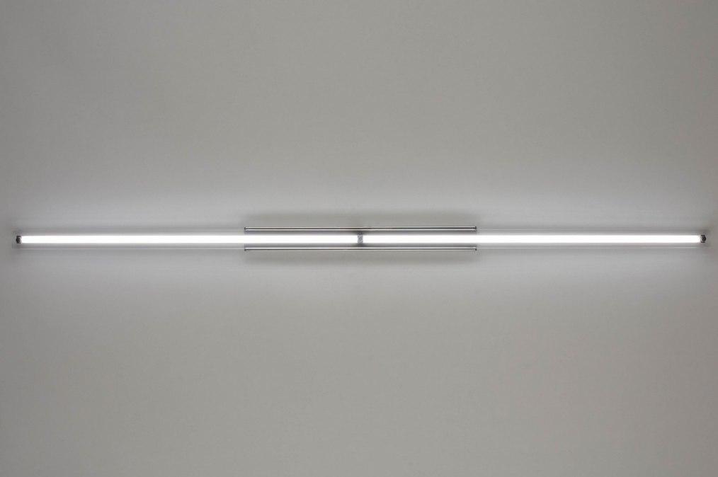 Wandlamp 12422: modern, design, chroom, glas #0