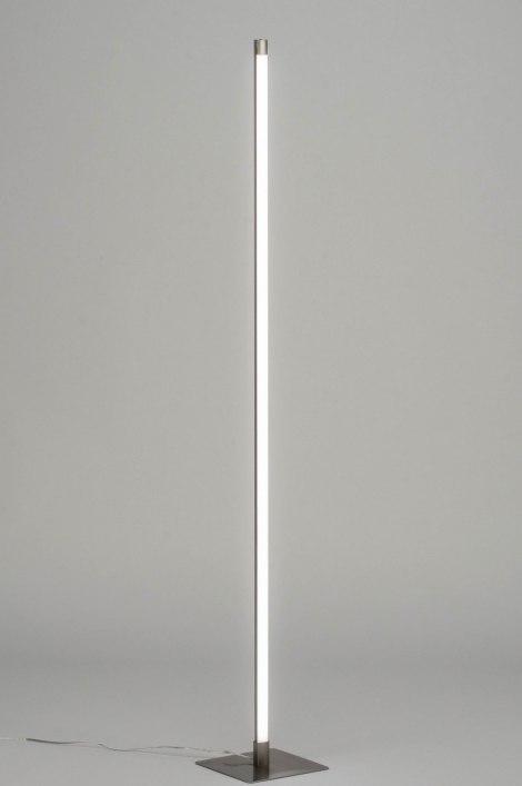 Vloerlamp 12429: modern, staalgrijs, kunststof, staal rvs #0