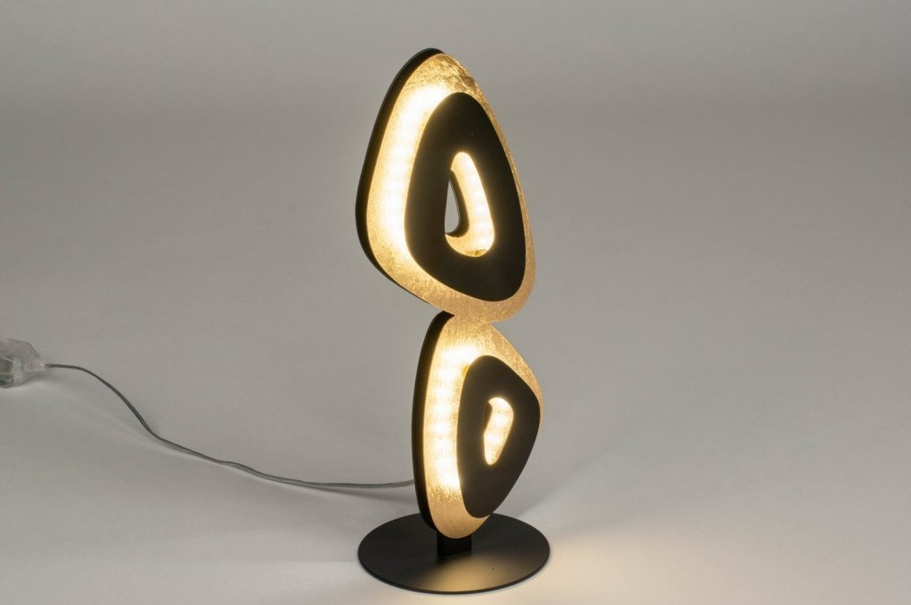 Tafellamp 12446: design, modern, metaal, zwart #0