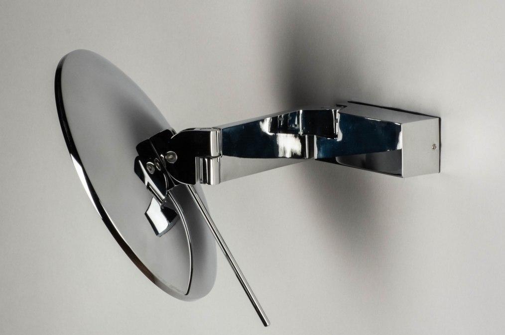 Spiegel Rond Groot : Spiegel 12476: modern metaal chroom rond
