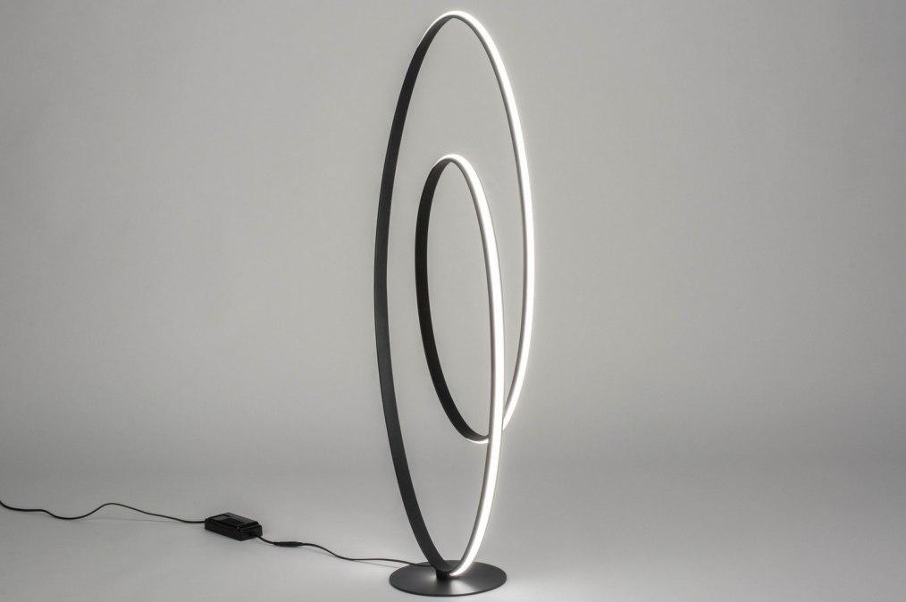 Vloerlamp 12495: design, modern, aluminium, metaal #0