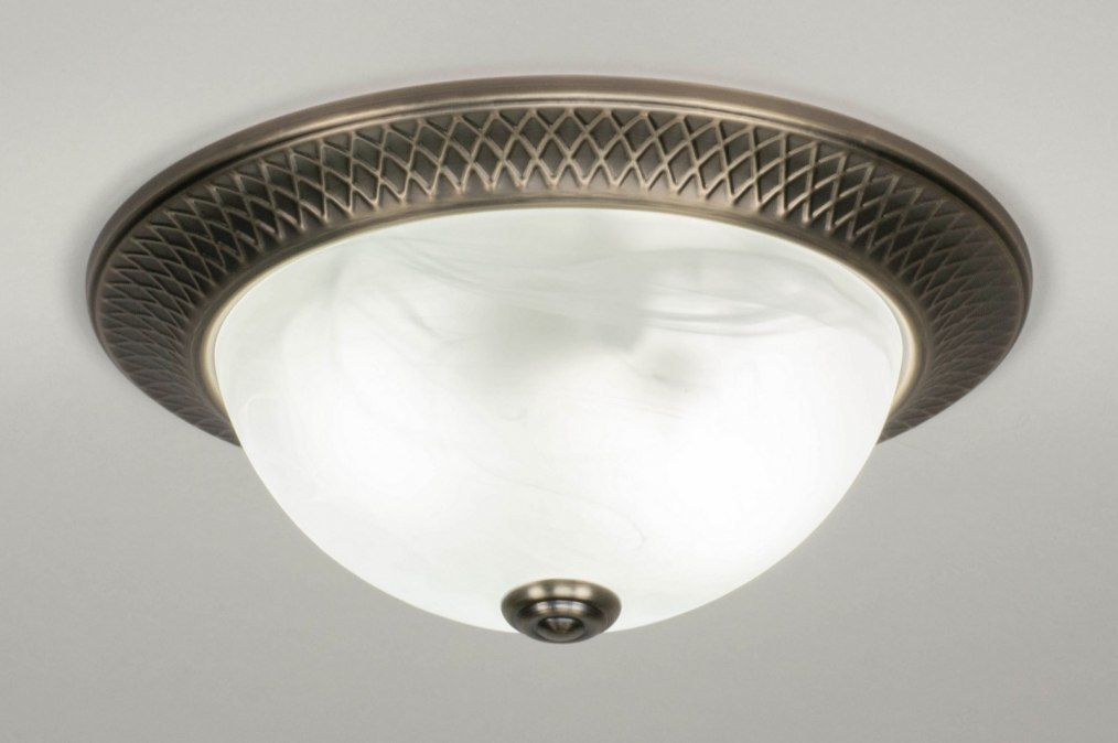Plafondlamp 12498: klassiek, brons, metaal, brons #0