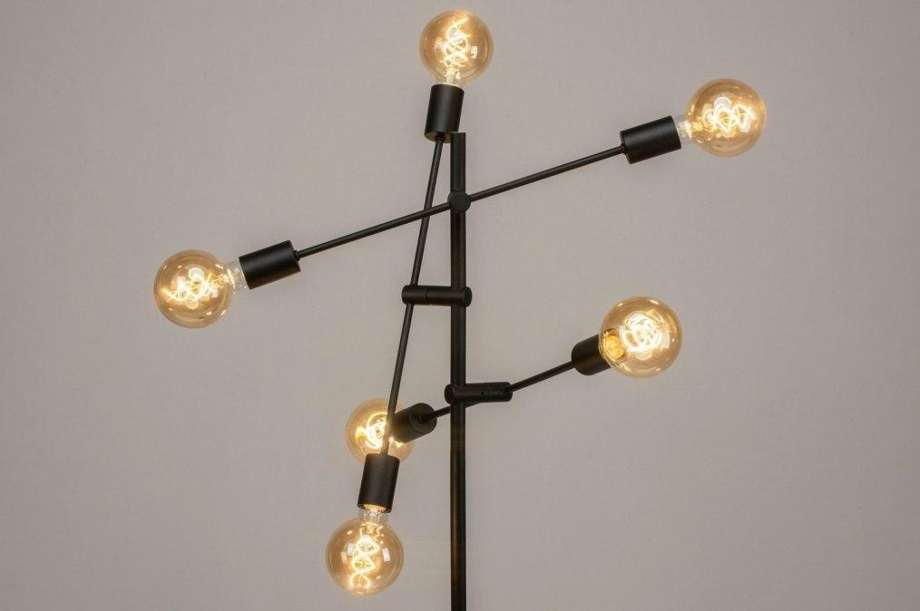 Vloerlamp 12516: modern, retro, metaal, zwart #0
