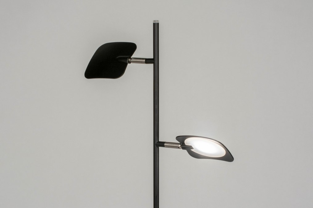 Kap staande lamp ↥ mm design stof kap mediterraan beige