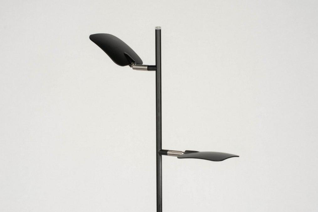 Staande design lamp met kap organza wit arjen verhuurt