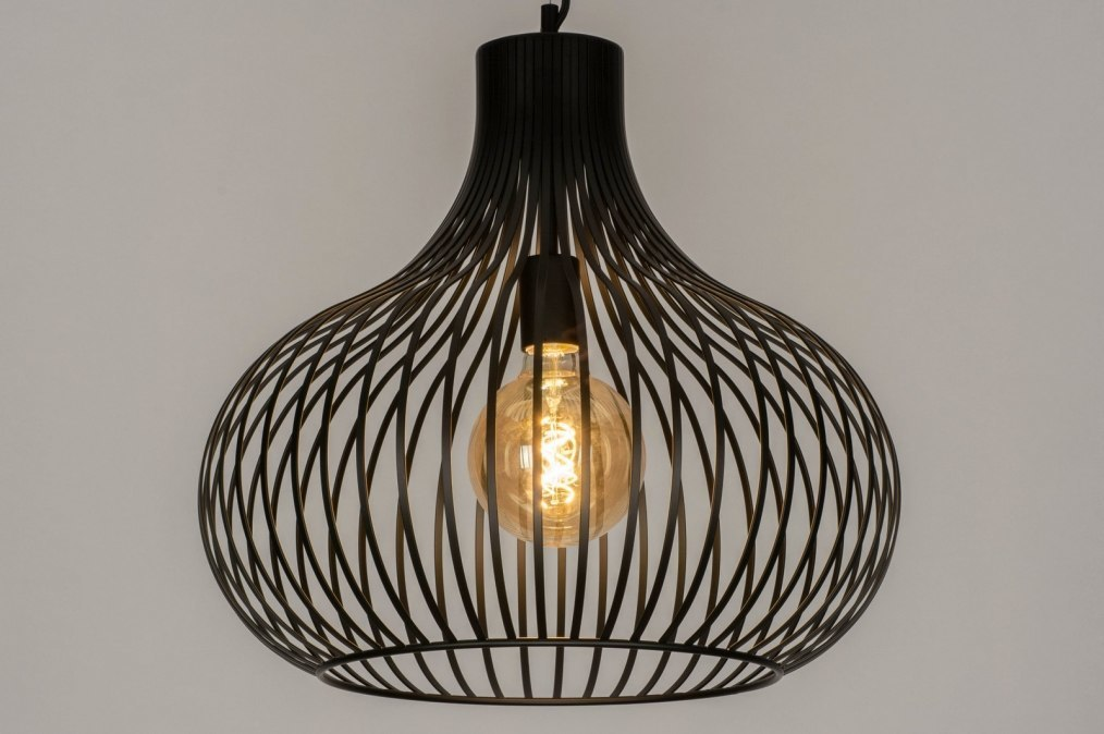 Hanglamp 12600: design, modern, metaal, zwart #0