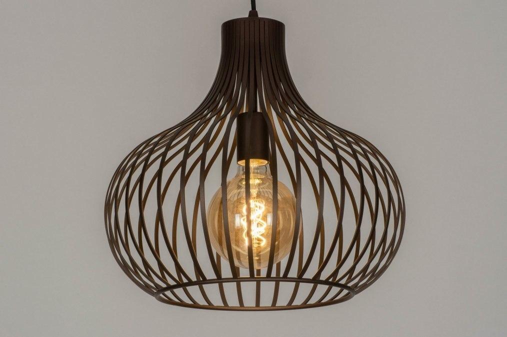 Hanglamp 12601: design, modern, metaal, brons #0