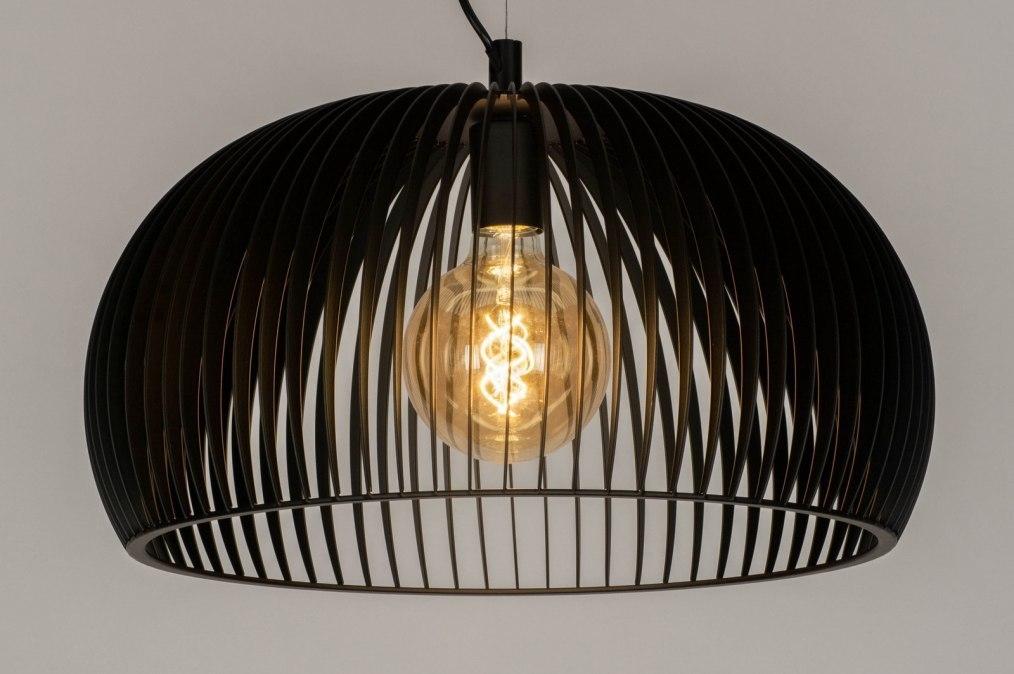 Hanglamp 12603: design, modern, metaal, zwart #0