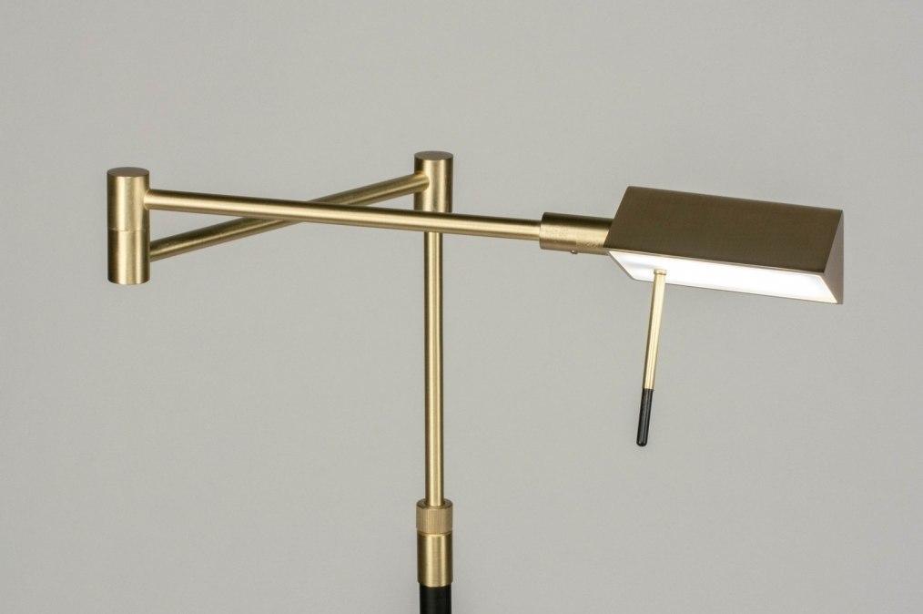 Vloerlamp 12660: modern, eigentijds klassiek, messing, geschuurd #0