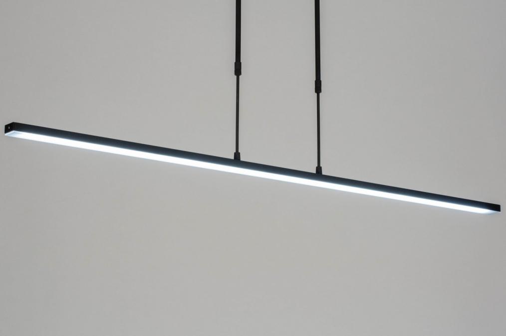 Hanglamp 12661: modern, metaal, zwart, mat #0