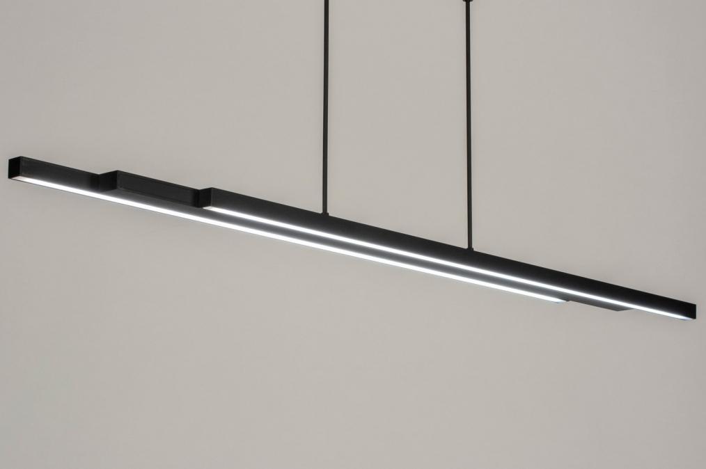 Hanglamp 12670: design, modern, metaal, zwart #0