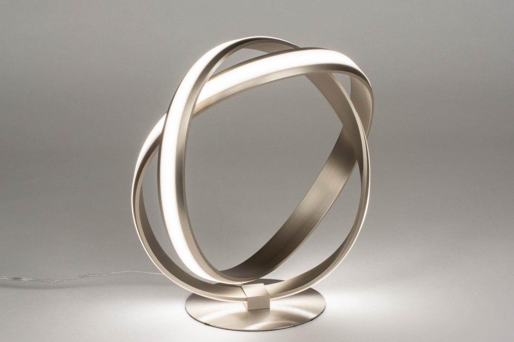 Tafellamp 12746: design, modern, staal rvs, metaal #0