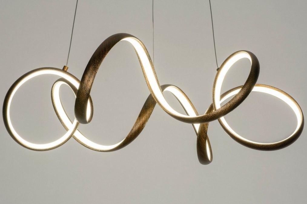 Hanglamp 12780: modern, eigentijds klassiek, metaal, roest #0