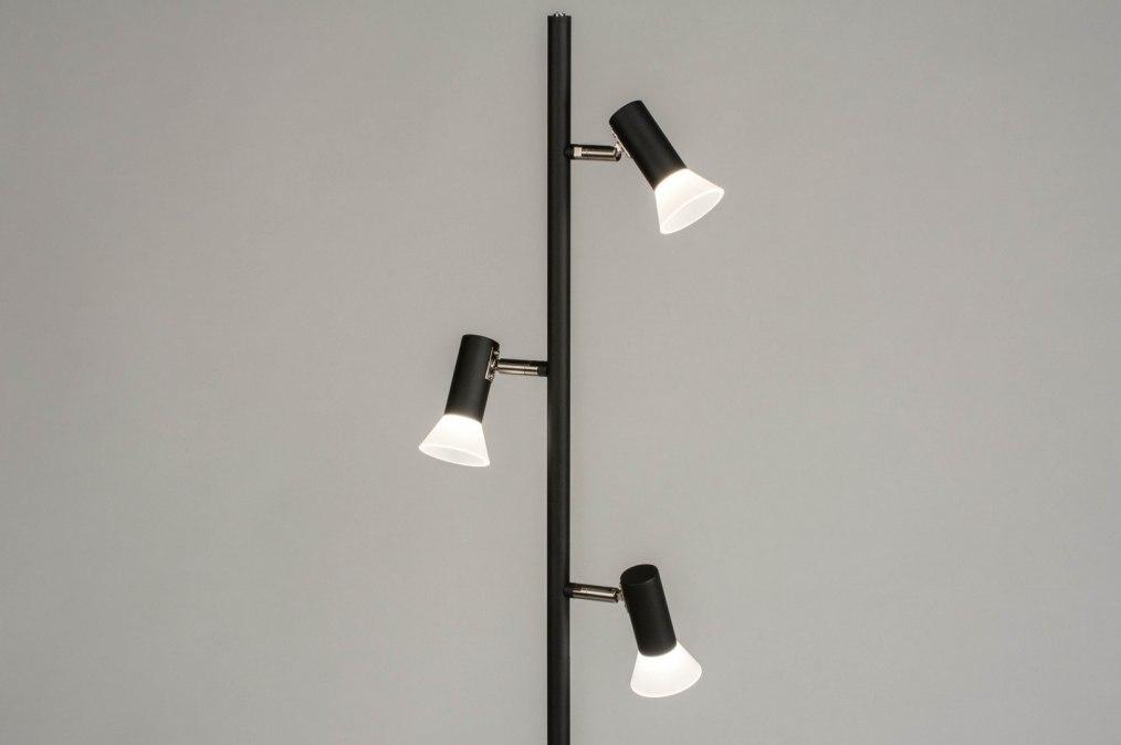 Vloerlamp 12821: modern, metaal, zwart, mat #0