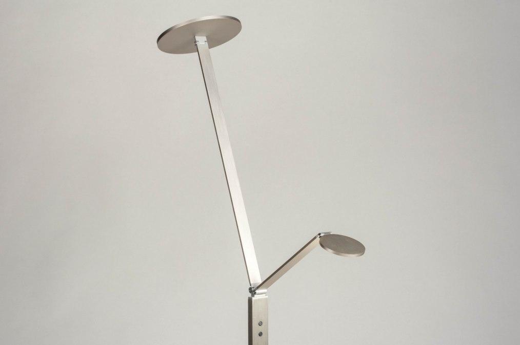 Vloerlamp 12834: design, modern, aluminium, geschuurd aluminium #0