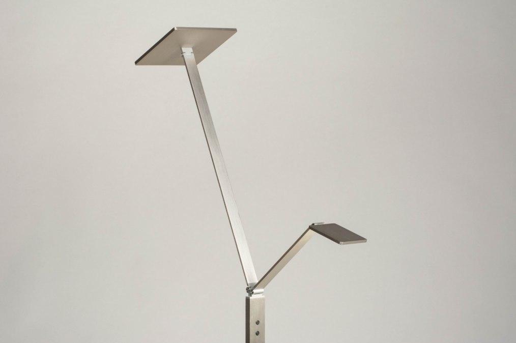 Vloerlamp 12836: design, modern, aluminium, geschuurd aluminium #0