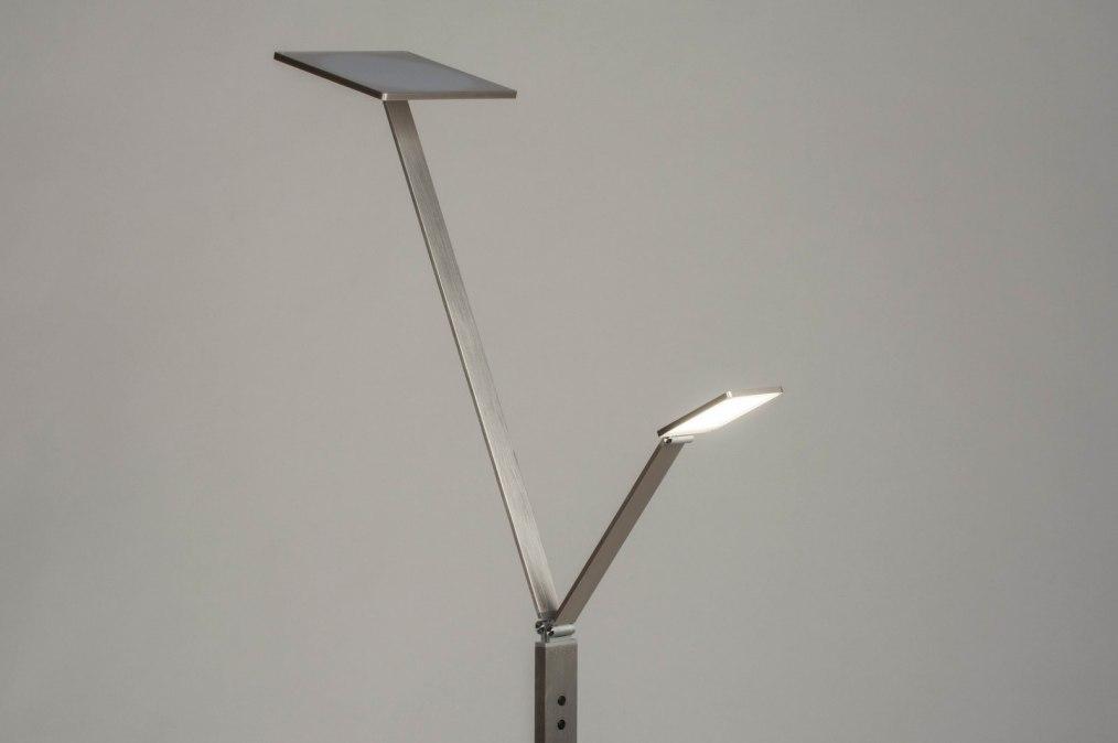 Staande lamp design modern aluminium geschuurd aluminium
