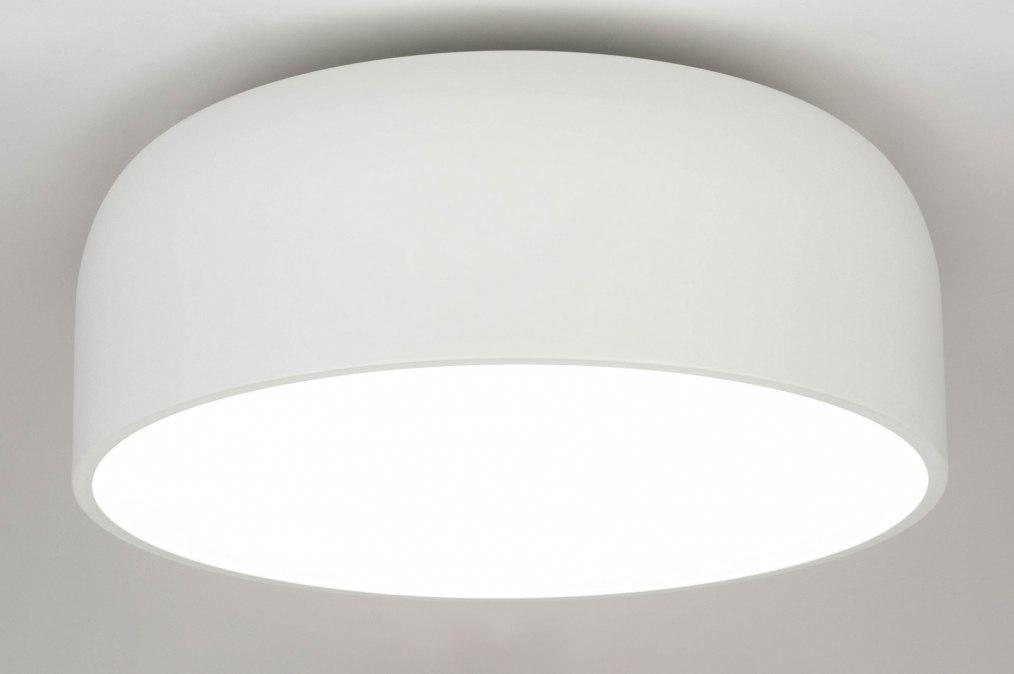 Plafondlamp 12857: design, modern, metaal, wit #0