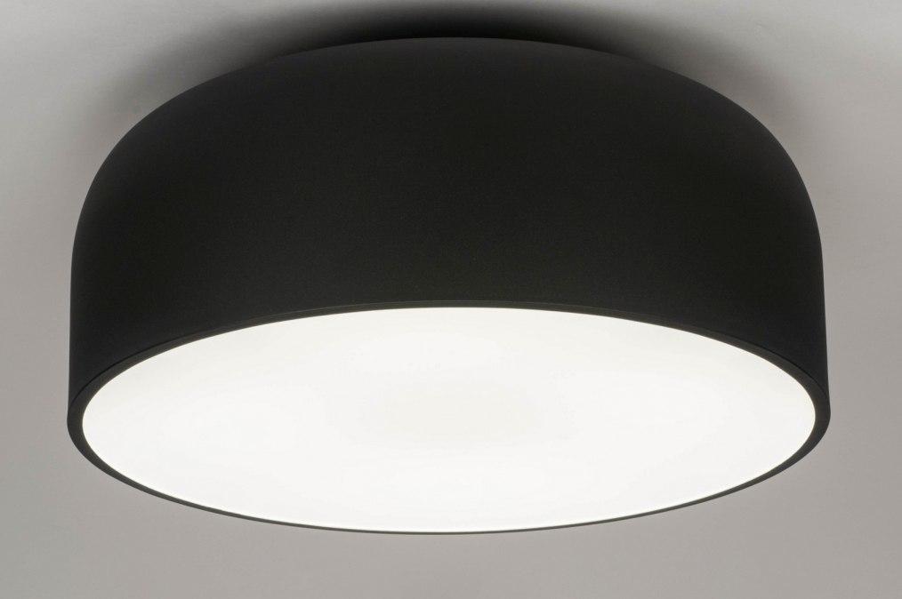 Plafondlamp 12858: design, modern, metaal, zwart #0