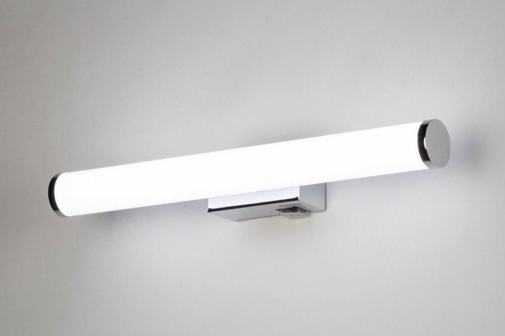 Wandlamp 12861: modern, kunststof, wit, chroom #0