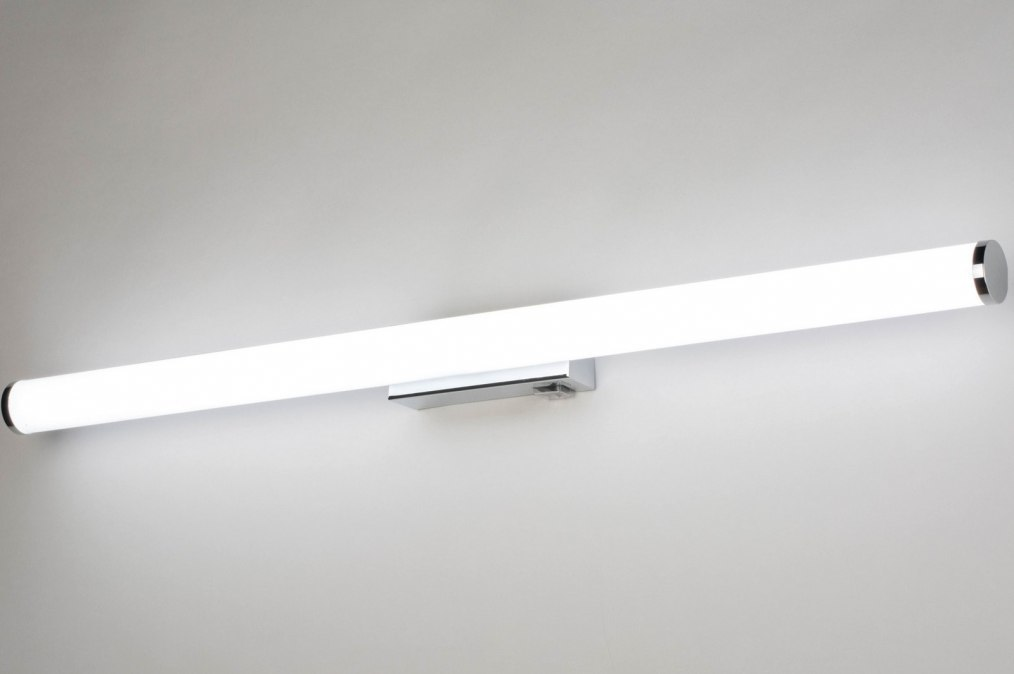 Wandlamp 12863: modern, kunststof, wit, chroom #0