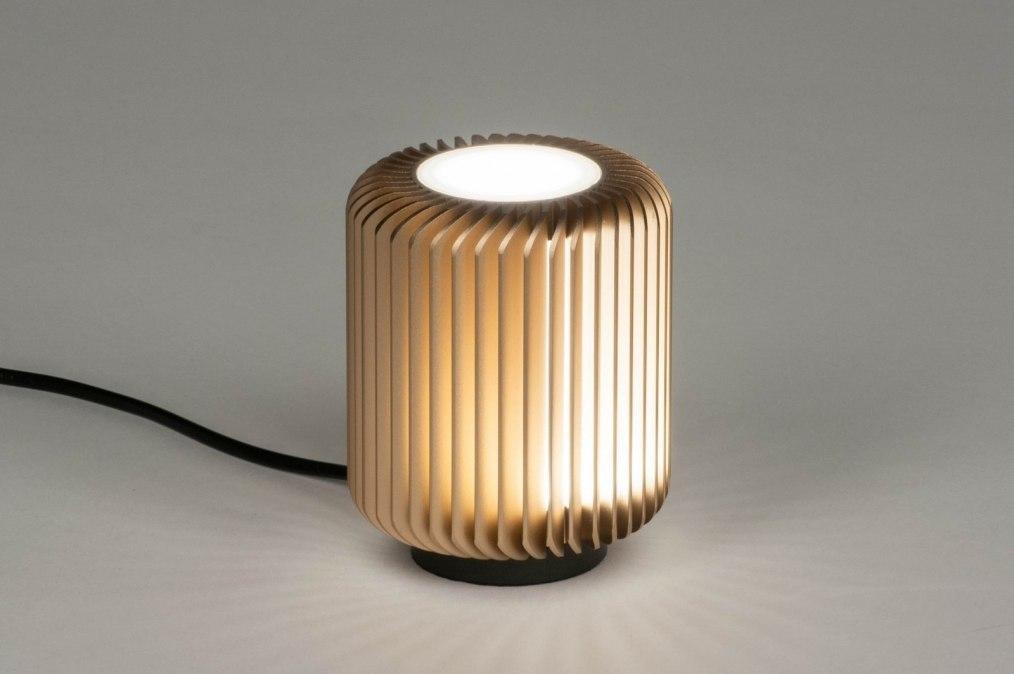 Tafellamp 12888: modern, stoer, raw, metaal #0