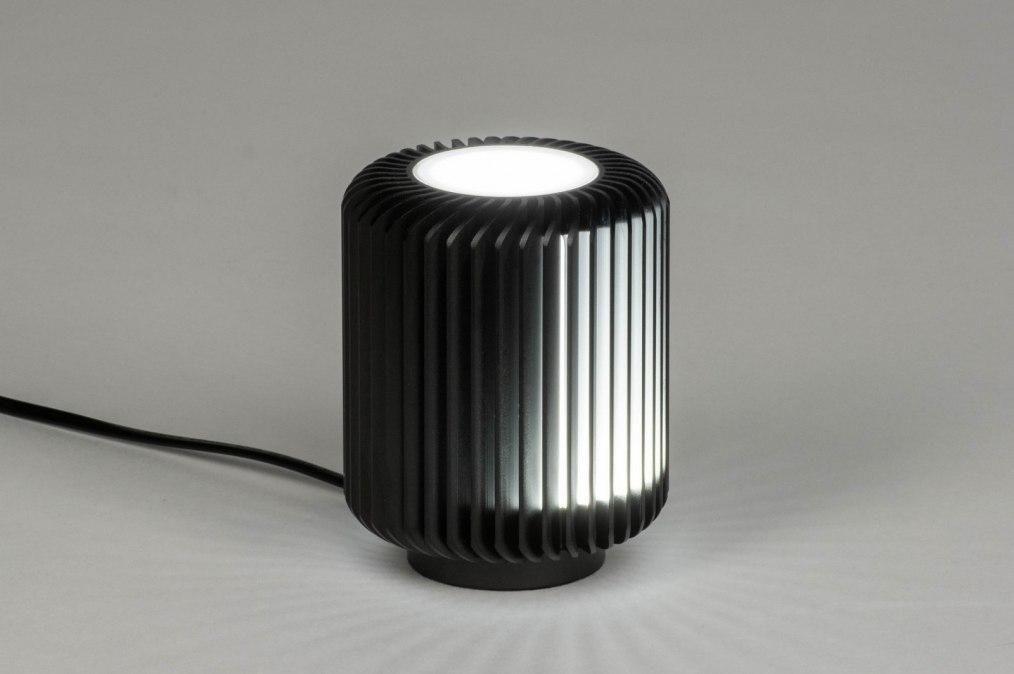 Tafellamp 12889: modern, stoer, raw, metaal #0