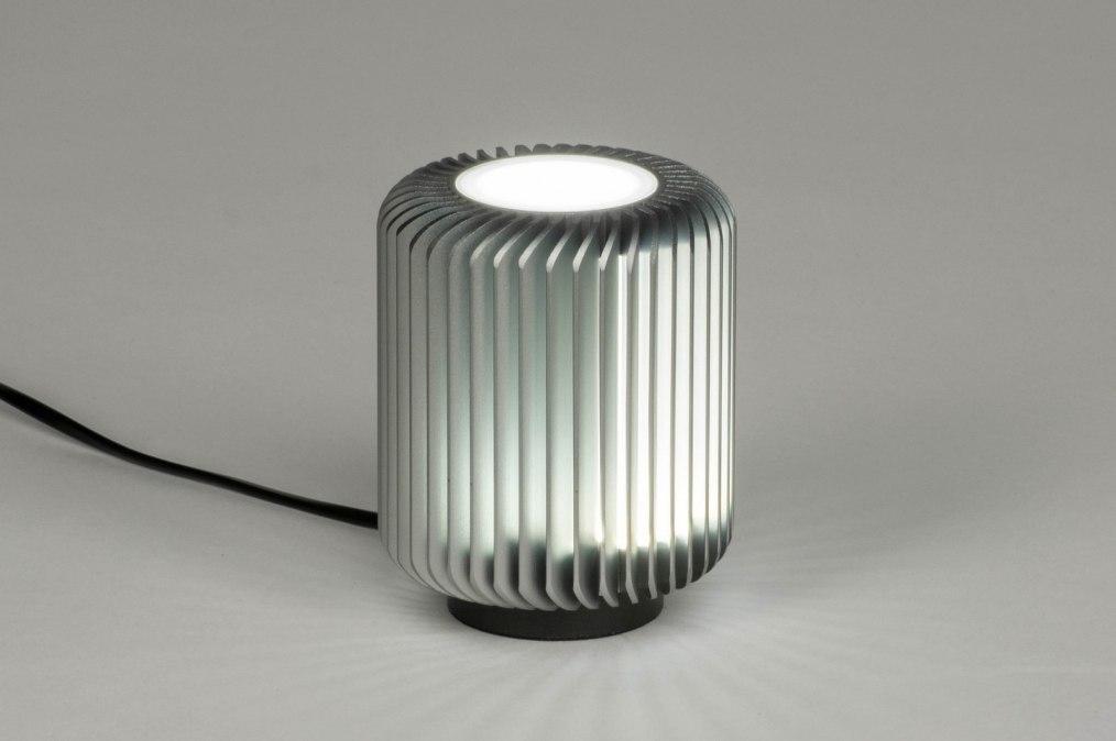 Tafellamp 12890: modern, stoer, raw, metaal #0