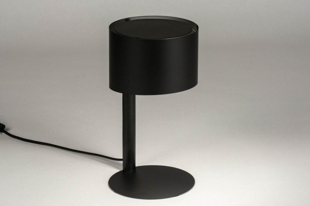 Tafellamp 12897: modern, metaal, zwart, mat #0