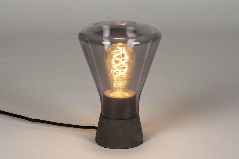 Tafellamp 12900: modern, retro, glas, beton #0