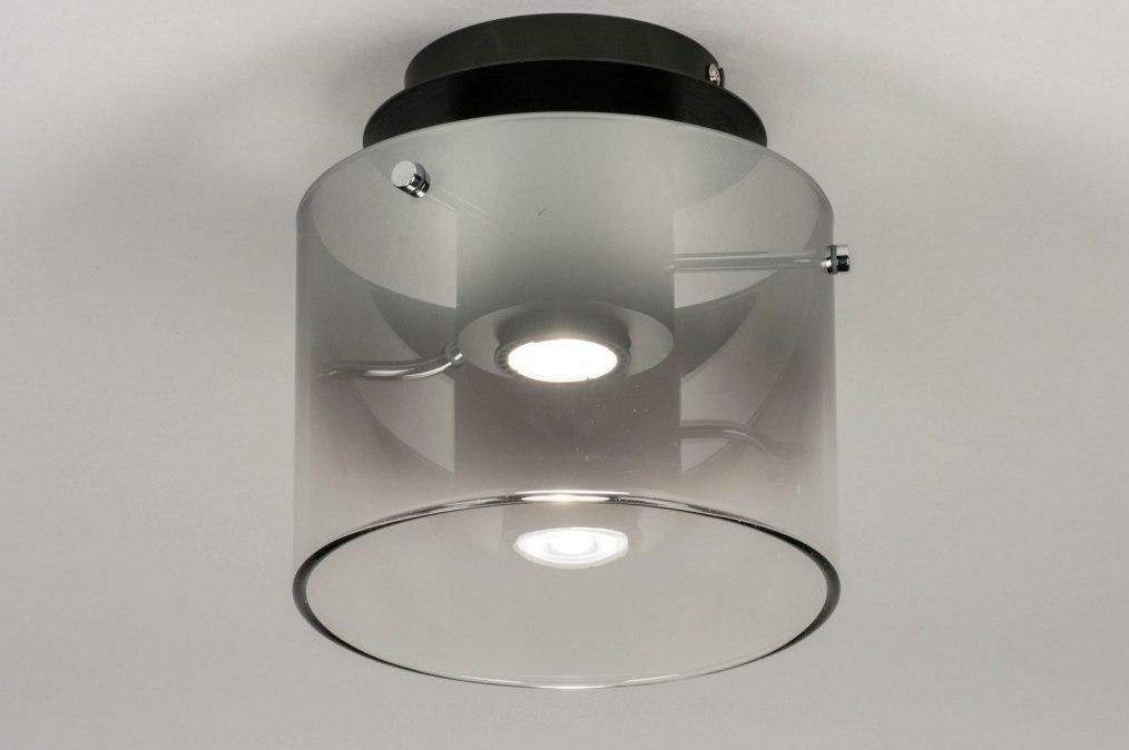 Plafondlamp 12905: design, modern, glas, metaal #0